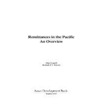 Remittances in the Pacific - An Overview