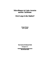 Microfinance in Latin America and the Caribbean - How large is the market