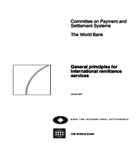 General principles for international remittance services (publication of final report)