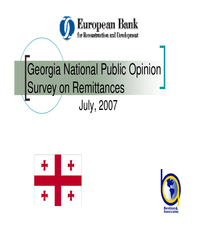 Georgia National Public Opinion Survey on Remittances