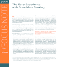 Focus Note 46: The Early Experience with Branchless Banking