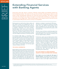Brief: Extending Financial Services with Banking Agents