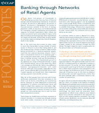 FocusNote 47: Banking through Networks of Retail Agents