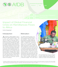 Development Research Briefs - Impact of Global Financial Crisis on Remittances Flows to Africa