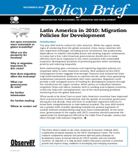 Latin America in 2010: Migration Policies for Development