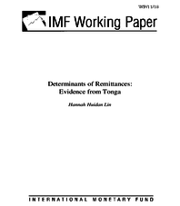Determinants of remittances: evidence from Tonga
