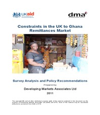 Report to DFID. Constraints in the UK-Ghana Remittances Market