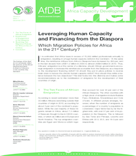 Africa Capacity Development Brief - Leveraging Human Capacity and Financing from the Diaspora
