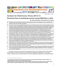 Migration and Development Brief 17: Outlook for Remittance Flows 2012-14