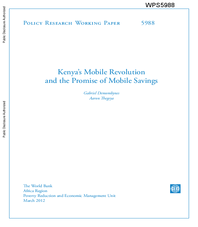 Kenya's Mobile Revolution and the Promise of Mobile Savings