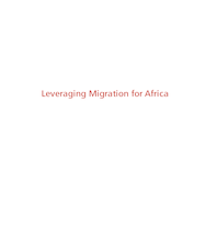 Leveraging Migration for Africa Remittances, Skills, and Investments