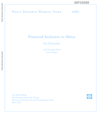 Financial inclusion in Africa : an overview