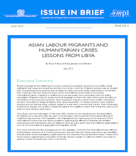 ASIAN LABOUR MIGRANTS AND HUMANITARIAN CRISES: LESSONS FROM LIBYA